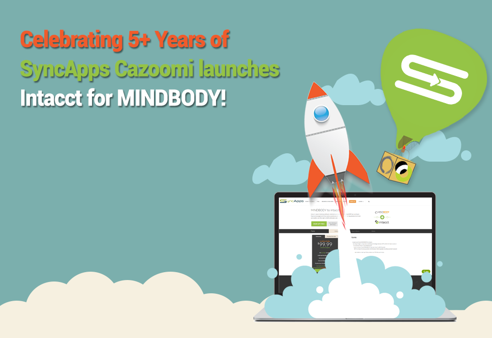 Celebrating 5+ Years of SyncApps Cazoomi launches Intacct for MINDBODY!